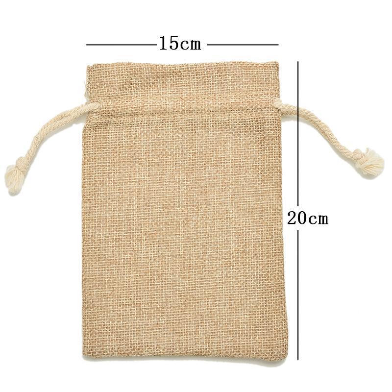 Sacchetti regalo Confezioni Regalo Sacchetto di imballaggio Sacchetti di caramelle borse da sposa in feltro di lino vintage