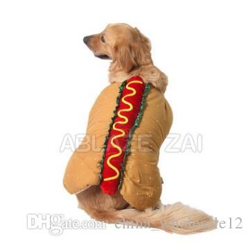 2019 Funny Made Pet Hot Dog Cosplay Food Clothes Dog Vest Cotton