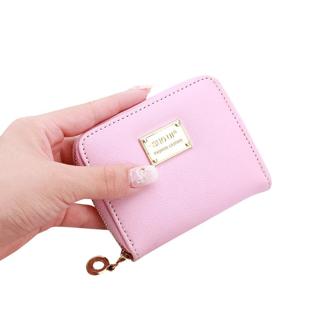 98669f64f908 Wholesale- Cute Women s Wallet Leather Small Wallet Fashion Holder Zip Coin  Purse Clutch Handbags Mini Money Bag Hot Sale