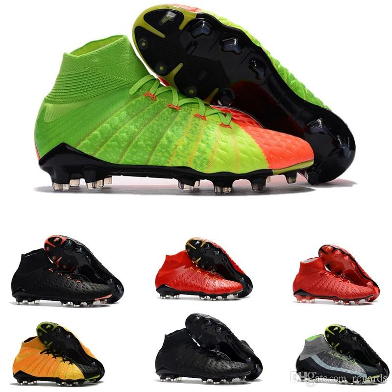 newest 7b173 f6e91 2019 2018 Mens High Ankle FG Soccer Cleats Hypervenom Phantom III DF Soccer  Shoes Neymar IC Football Boots Cleats Men Football Shoes Cheap From  Regards, ...