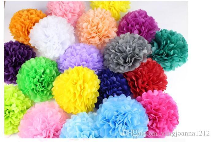 Décoration de fête Mariage Xmas Maison Décor Extérieur Tissu Origami Papier Pom Poms Boule De Fleurs Papier De Mariage Boule De Fleurs Origami Pro