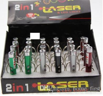 /Box Creative Mini Flashlight Cat Toys Laser Beam for Teasing Cat Double Pen LED Flashlights 2in1