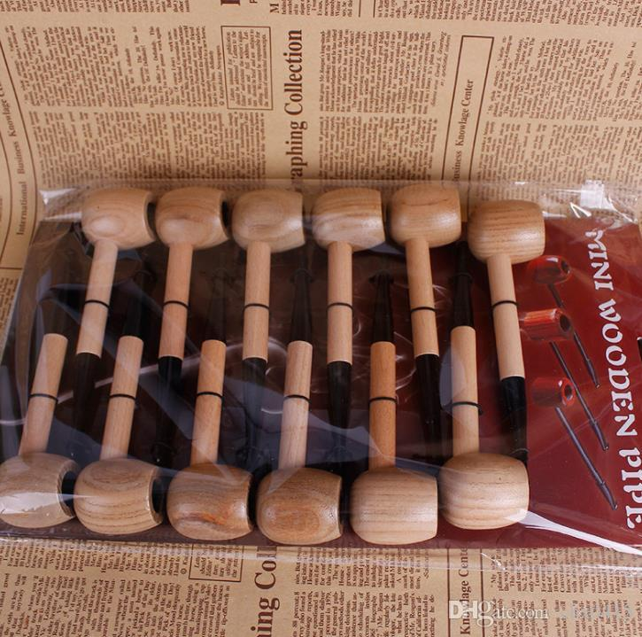 New sailors solid wood circular bottom filtration Mini Mini pipe male hammer straight smoking set