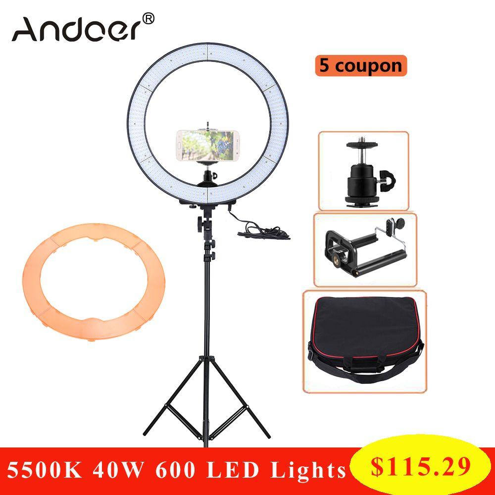 Grosshandel Andoer La 650d 5500k 40w Ring Lampe Led Studio Ring Licht