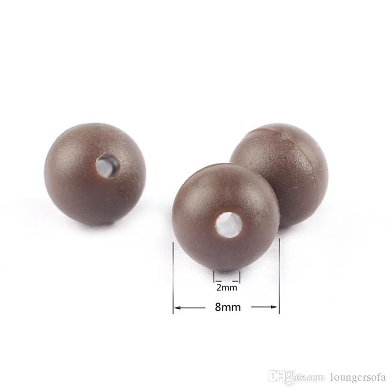 Super Mini Soft Carp Fishing Beads 8mm Round Floating Rig Beads Carp Rubber Dark Grey Color Baits Tackls 0 09gf ZZ