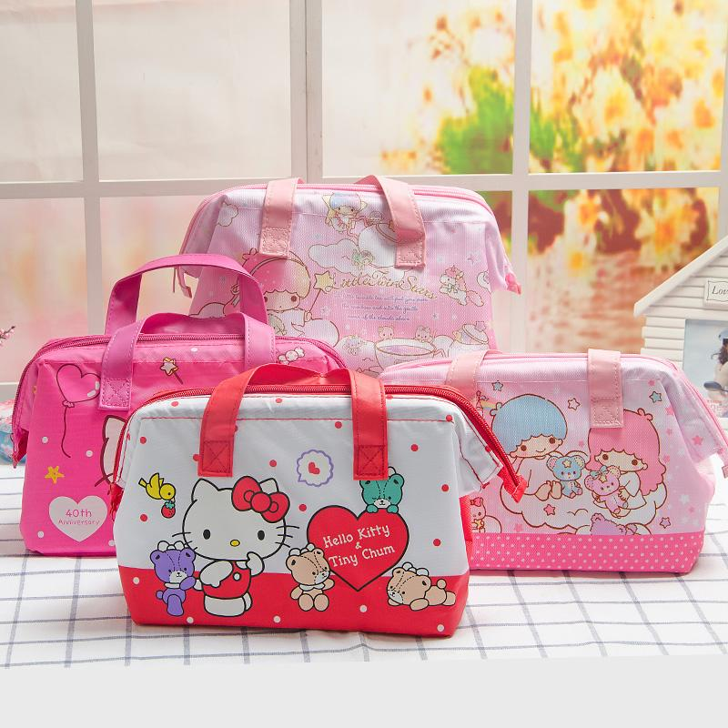 Kawaii Hello Kitty Little Twin Stars Cute Mini Hand Bag Students Insulated  Lunch Bag 25 13 18.5CM For Kids Christmas Gifts Handbags For Women Cheap  Handbags ... 91df49fd797f4