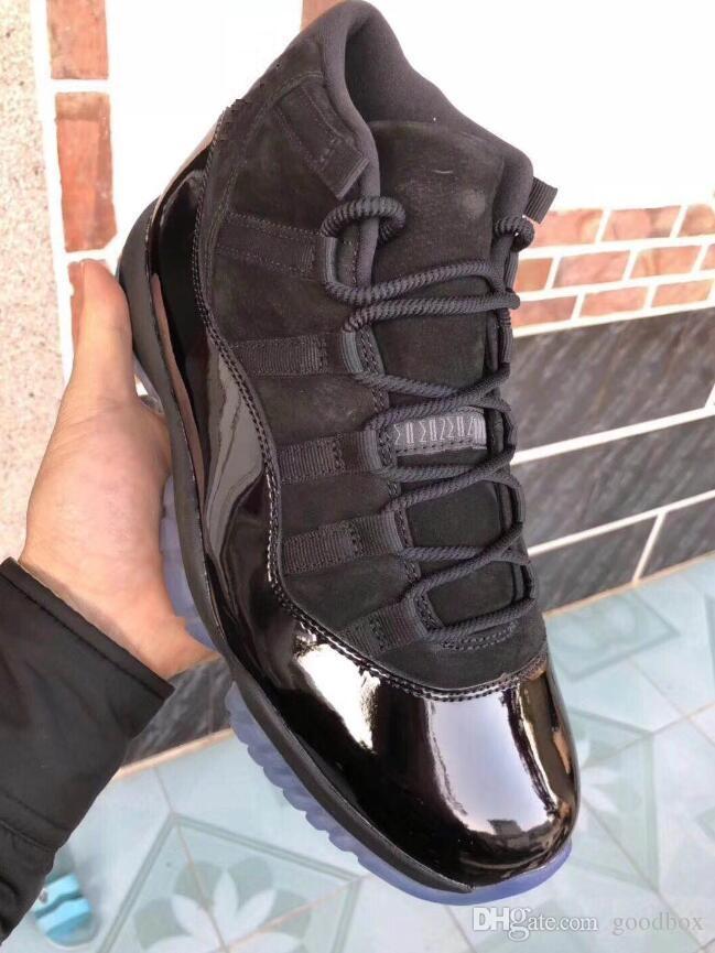 Blackout 11s noite do baile de finalistas 11 Real fibra de carbono Top Quality Gym Gama Vermelha azul Meia-noite Marinha Basquete sapatos Criados Concord Com Caixa