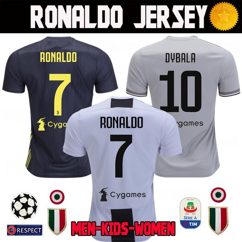 c73ed28416 Juventus RONALDO Soccer Jerseys 2018 2019 Juve Home Away Third DYBALA COSTA  CR7 Kit Kids Women Camisetas De Futbol 18 19 Football Shirts RONALDO Soccer  ...
