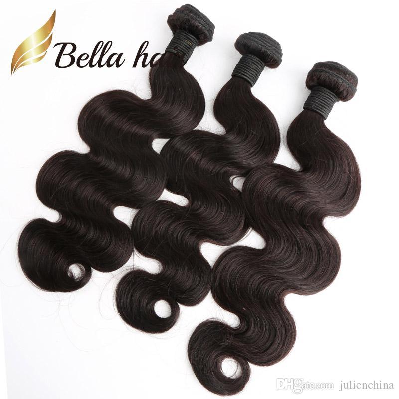 Bella Hair® Cheapest Body Wave Brazilian Hair Extensions 7A Human Hair Weaving Soft Donor Hair Bundles U.S.