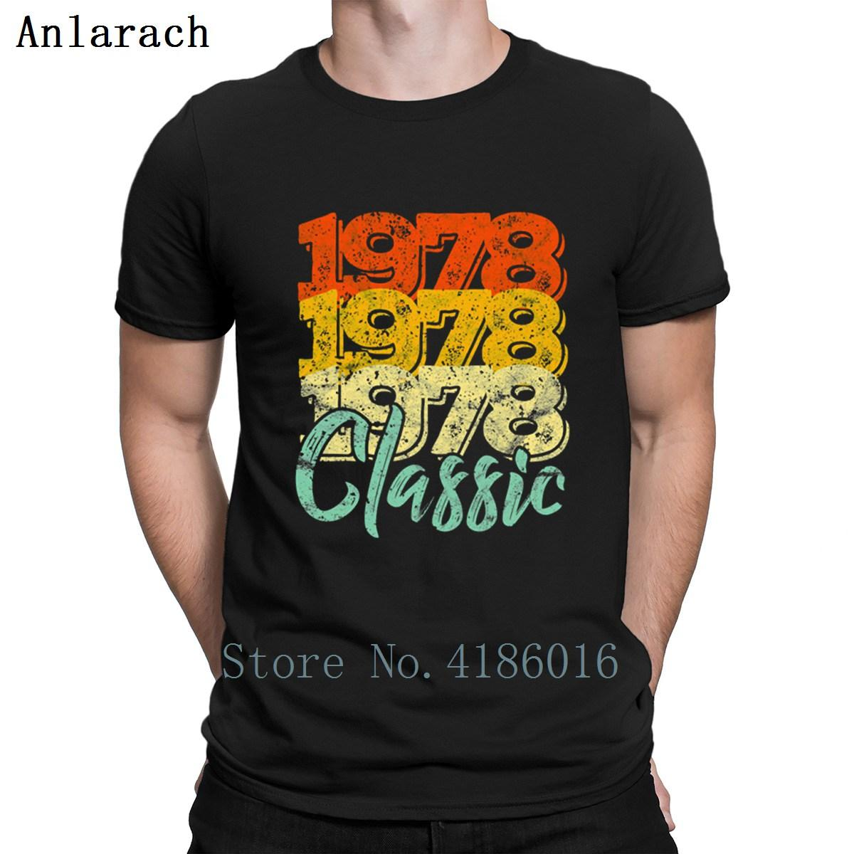 40th Birthday Gift Vintage 1978 Tshirts Graphic Short Sleeve Novelty Designer Men T Shirt 2018 Basic Trend Hiphop Top Round Neck Cute Shirts Nerd