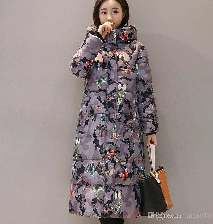 Hooded Colorful Winter Down Coat Jacket Long Warm Women Casaco Feminino Abrigos Mujer Invierno new Parkas Outwear Coats