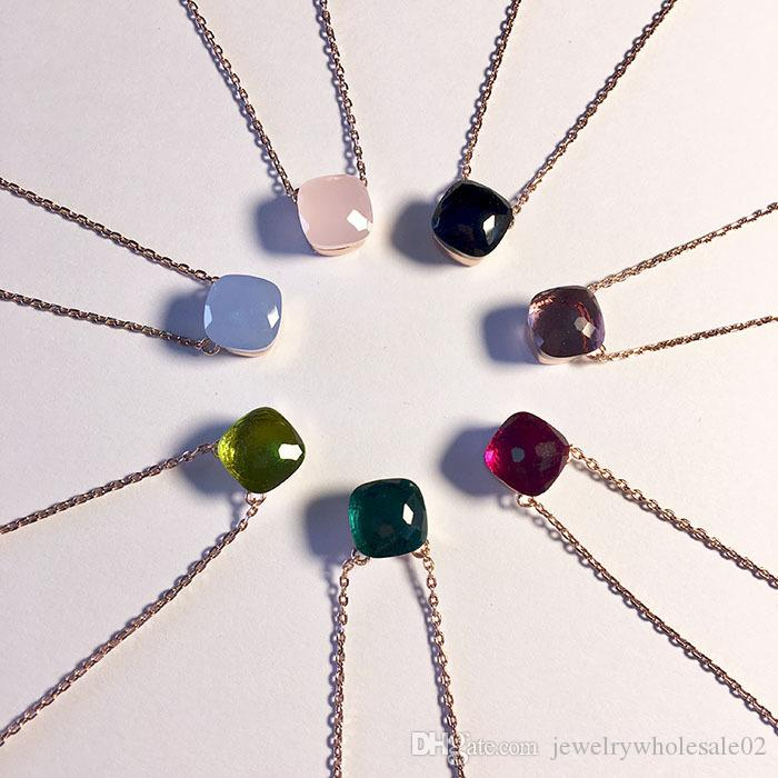 e112562f05dd Compre Collares Colgantes Cristal Largo Collar Moda Collar De Plata Cadena  Larga Bijoux Regalo Piedra Natural Colgante Collar Mujeres A  13.37 Del ...