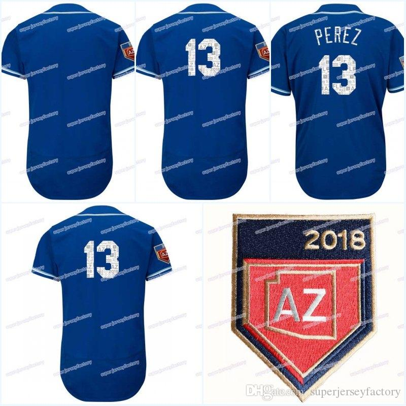 db475382a 13 Salvador Perez Men s 2018 Spring Training Jersey Women Youth All ...
