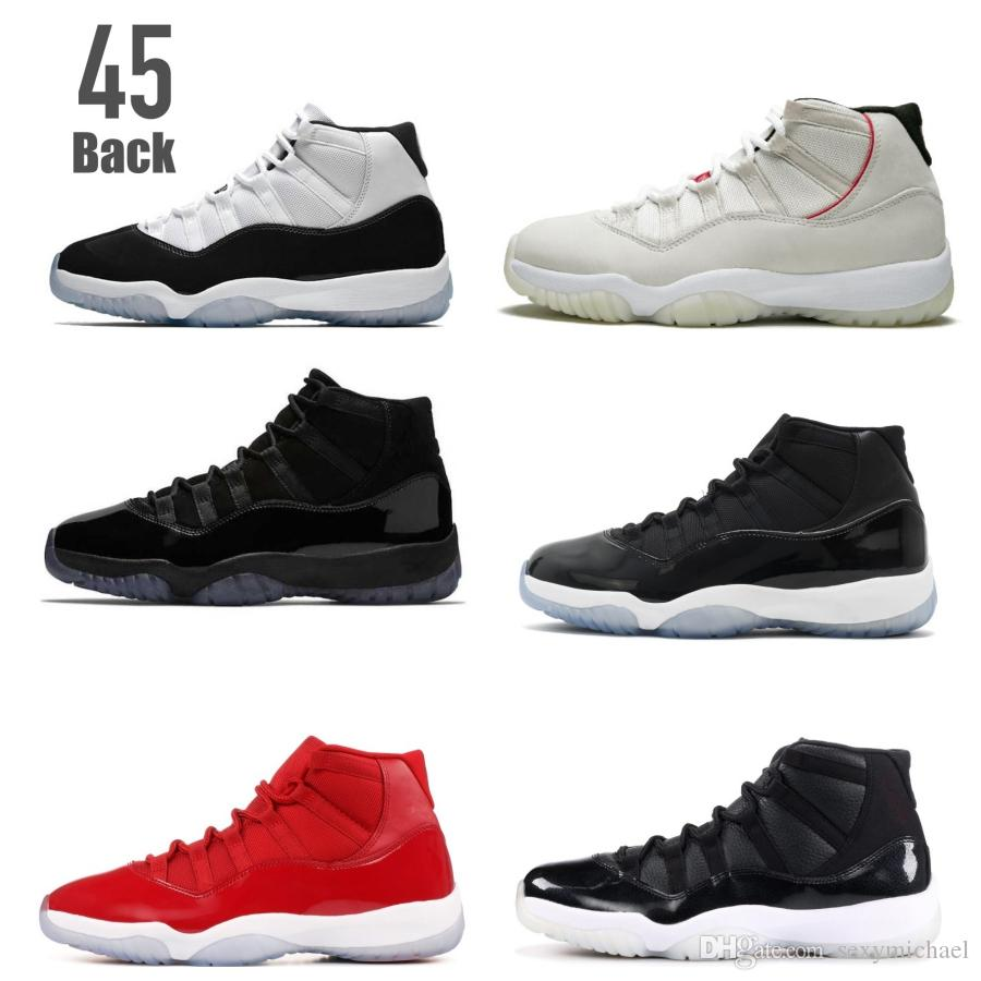 more photos 72a66 8326c 11 Concord 45 Back 11s Platinum Tint 2018 New Arrival Basketball Shoes  Sneakers Cap And Gown Win Like 96 82 72 10 Shoes On Sale Cheap Sneakers  From ...