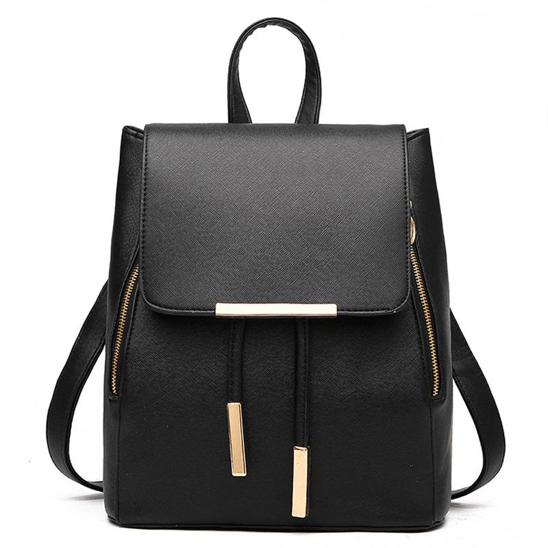 Fashion Woman Backpack High Quality PU Leather School Bag For Teenagers  Girls Backpack Female Top Handle Backpacks For Women Herschel Backpacks Best  ... 451d414a430be