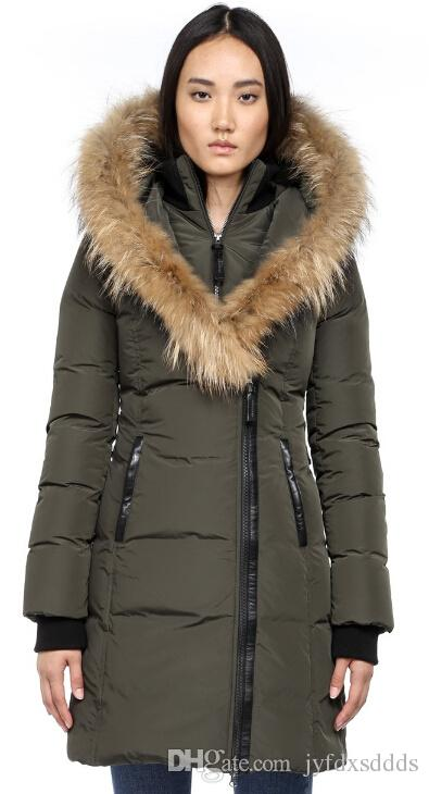 2bfc8f35bad Canada Women Femme Kay F4 Long Winter Down Coat With Fur Hood Jacket Hiver  Thick Warm Windproof Thicken Fourrure Hooded Manteaus Doudoune