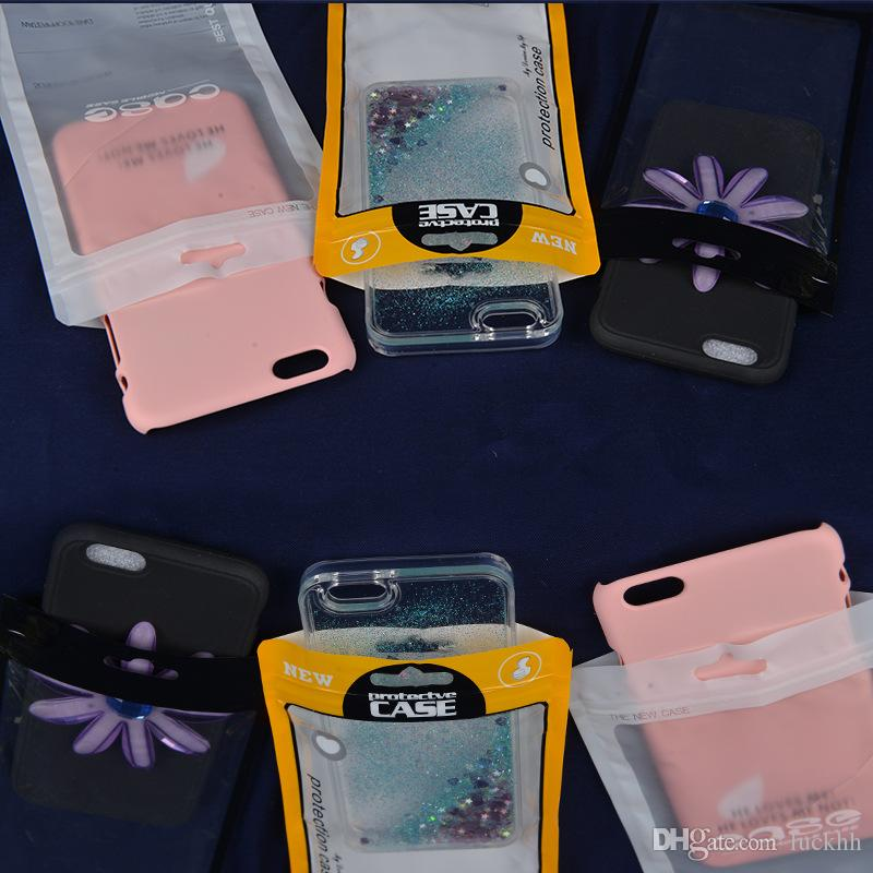 Cáscara del teléfono móvil Bolsa de embalaje de la línea de datos Plástico OPP Paquete de empaquetado al por menor Bolsa de la bolsa para el móvil Teléfono celular Cable Funda Accesorios