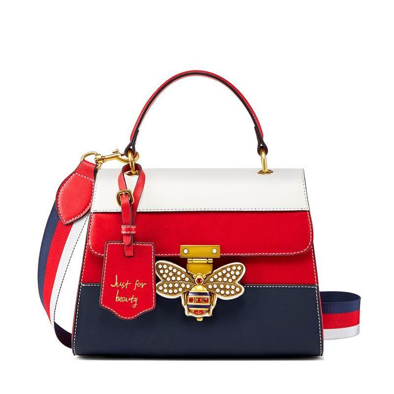 9351ca66dc Women Fashion Casual Tote Luxury Brand Design Genuine Leather Red ...