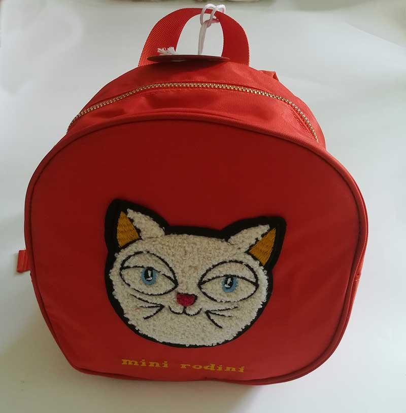 2018 Fashion New Mini Rodini Style Boys Girls Cat Pattern Backpackbag Baby  Cute Kids Toddlers Cartoon Snack Bags Kindergarten Red School Bag Heavy  Duty ... 710f67759cb4f