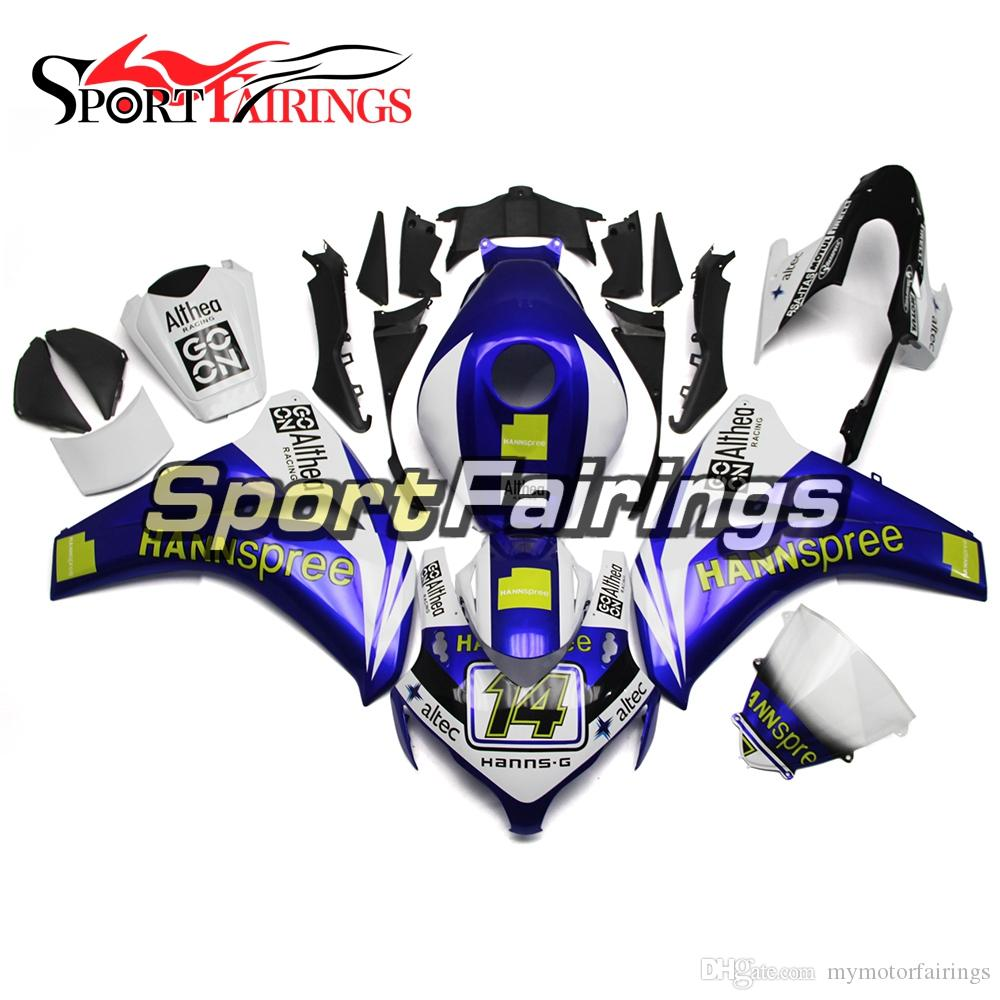 Full Injection Fairings For Honda 08 09 10 11 CBR1000RR Glossy White Blue  Sportbike ABS Plastics Motorcycle Body Frames Cowlings