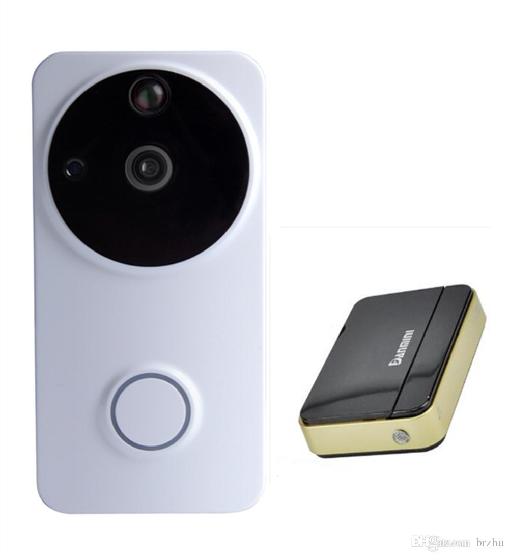 Long Time Standby Motion Detection 720p wifi doorbell App remote control