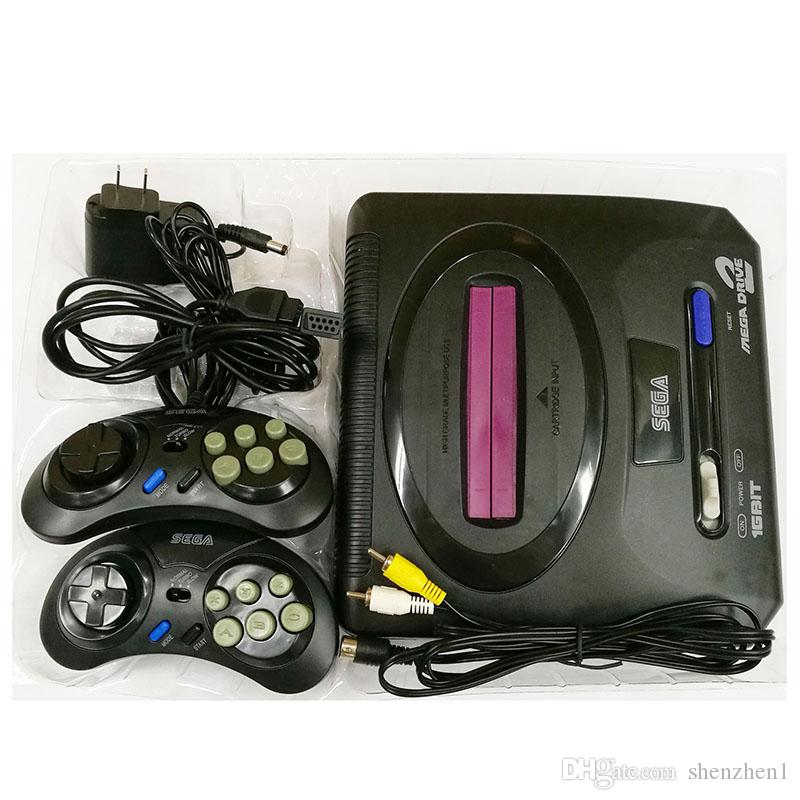 Sega Genesis/MD compact 2 in 1 dual system game console/catridge rom support original game card high quality DHL Free OTH906