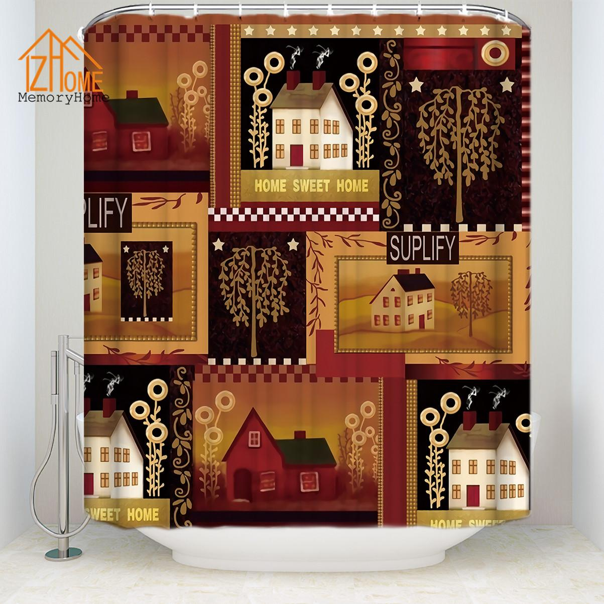 Memory Home Country Shower Curtain Bathroom Decor Home Sweet