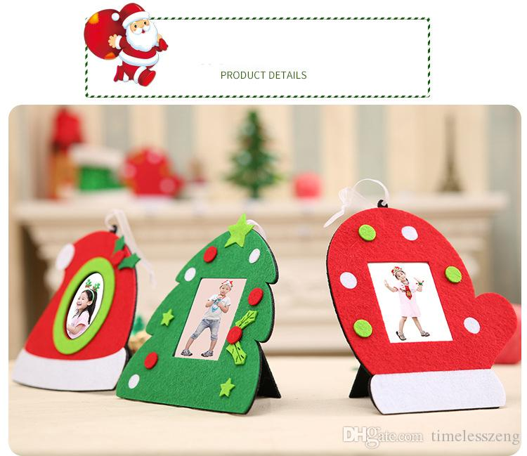 christmas photo frame non woven hat gloves tree shape picture holder frame xmas tree ornaments gift home decor best christmas decor best christmas