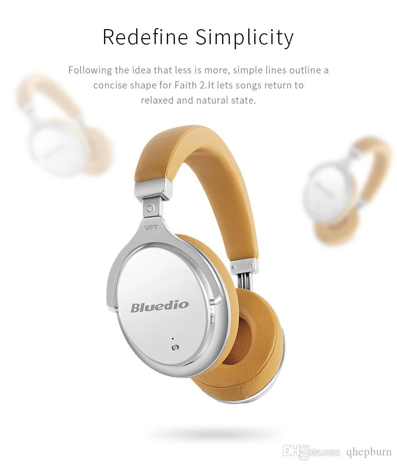 aa45a42c289 BLUEDIO F2 Bluetooth Headset, ANC Active Noise Reduction, Head Mounted  Smart Phone Wireless Headset, Binaural HiFi Music Headset Headset Cell  Phone Best ...