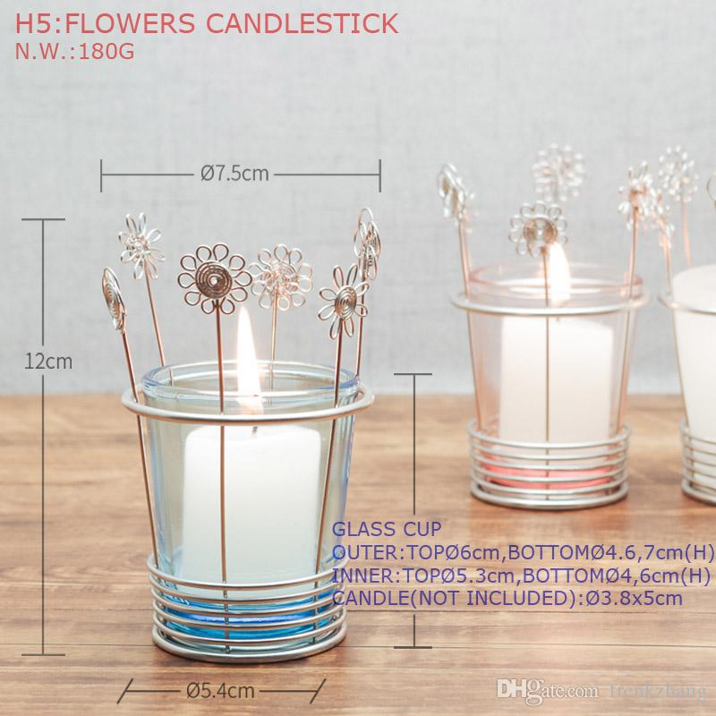 H5 FLOWERS CANDLE HOLDER DECORATION KITCHEN ROOM HOLDER HAND-MADE ART CRAFTS WEDDING BIRTHDAY HOME HOTEL GARDEN OFFICE GIFT PRESENT CUTE