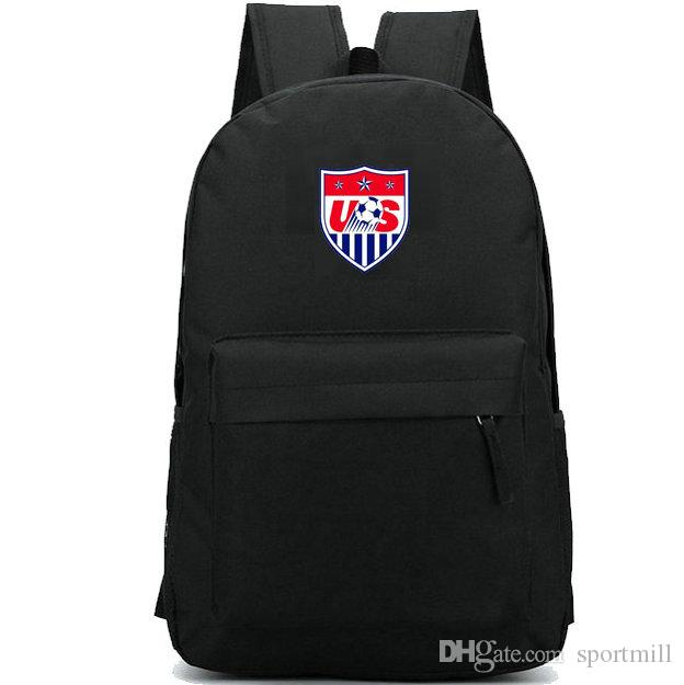 cdc4b80327 2019 America National Team Backpack Usa Country Badge School Bag Football  Daypack Soccer Schoolbag Outdoor Rucksack Sport Day Pack From Sportmill