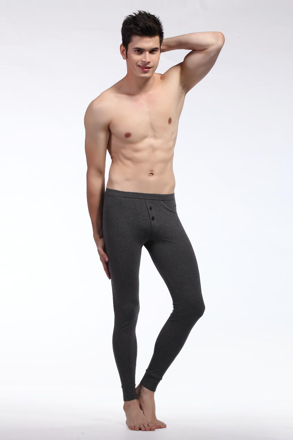 best fashion men's cotton long johns thermal underwear winter men