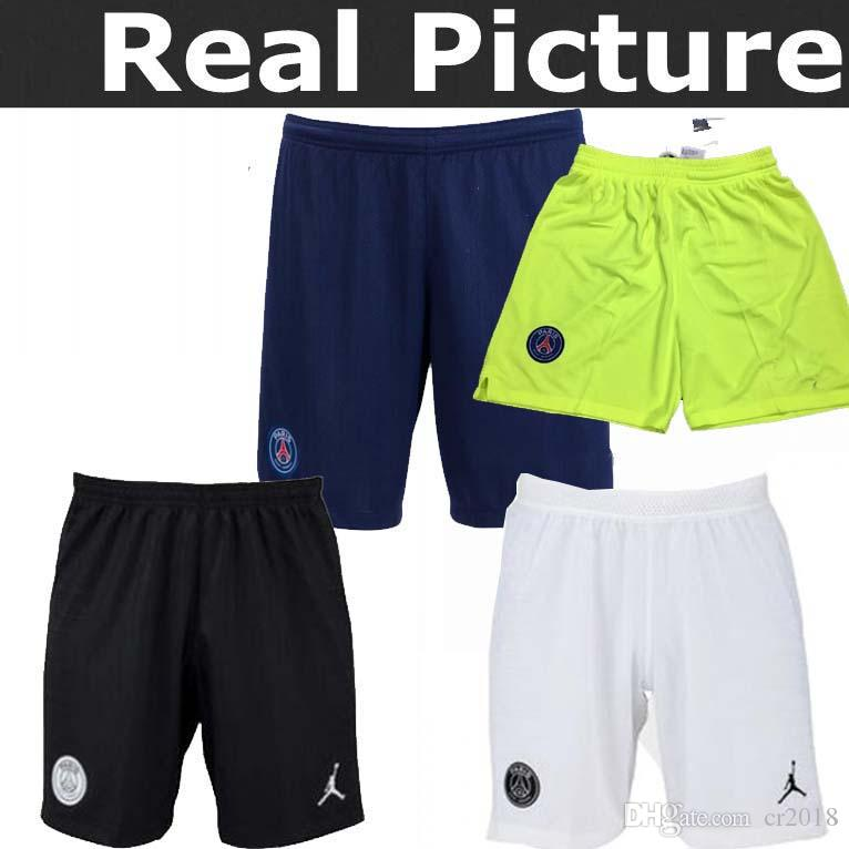 7196fecd50f 2019 Top Best Quality 18 19 Psg Soccer Pants Champions New PSG 2018 2019  Mbappé Home Away Third Goalkeeper BUFFON Jordam CAVANI Football Shorts From  Cr2018