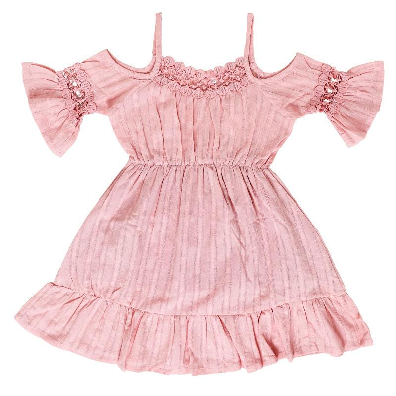 371f50483 2 years cotton baby girl frocks for kids birthday party wear long sleeve baby  girls dress pink girl clothes Hollow out lace