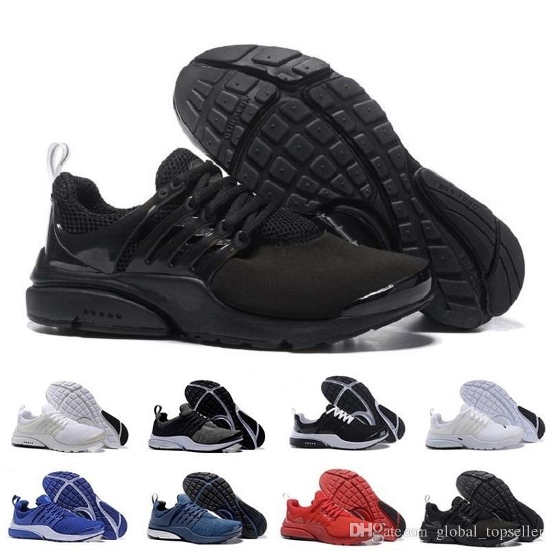 quality design 0cb16 9aa4c Acheter Nike Air Max Air 2018 New Presto Hommes Femmes V Respirant Presto  Blackout Pas Cher Sneaker Rouge Marine Bleu Triple Blanc Noir Automne Olive  ...