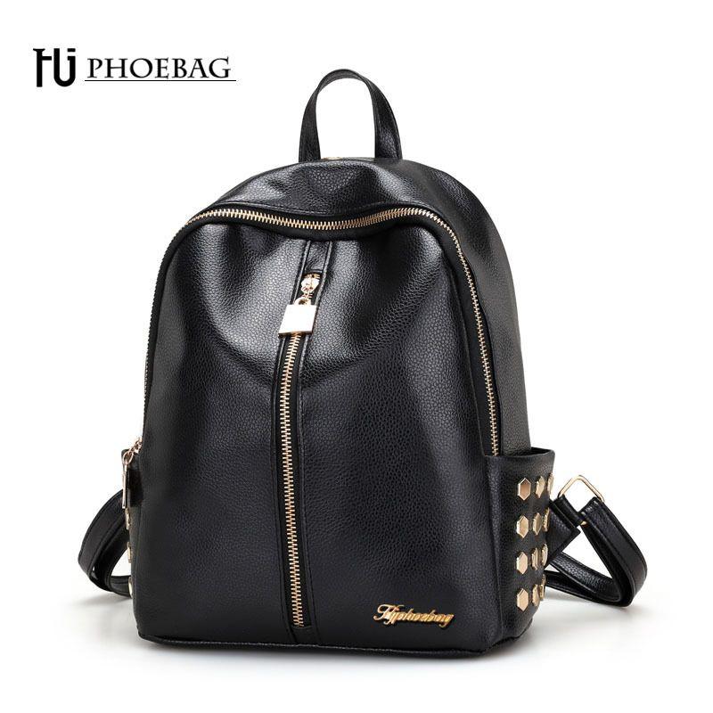 2019 FashionHJPHOEBAG Fashion Women Backpack Modern Stylish Teenage Girls  School Bags PU Leather Feminine Travel Package Three Models Z 460 Laptop  Backpack ... 68cc690746ae4