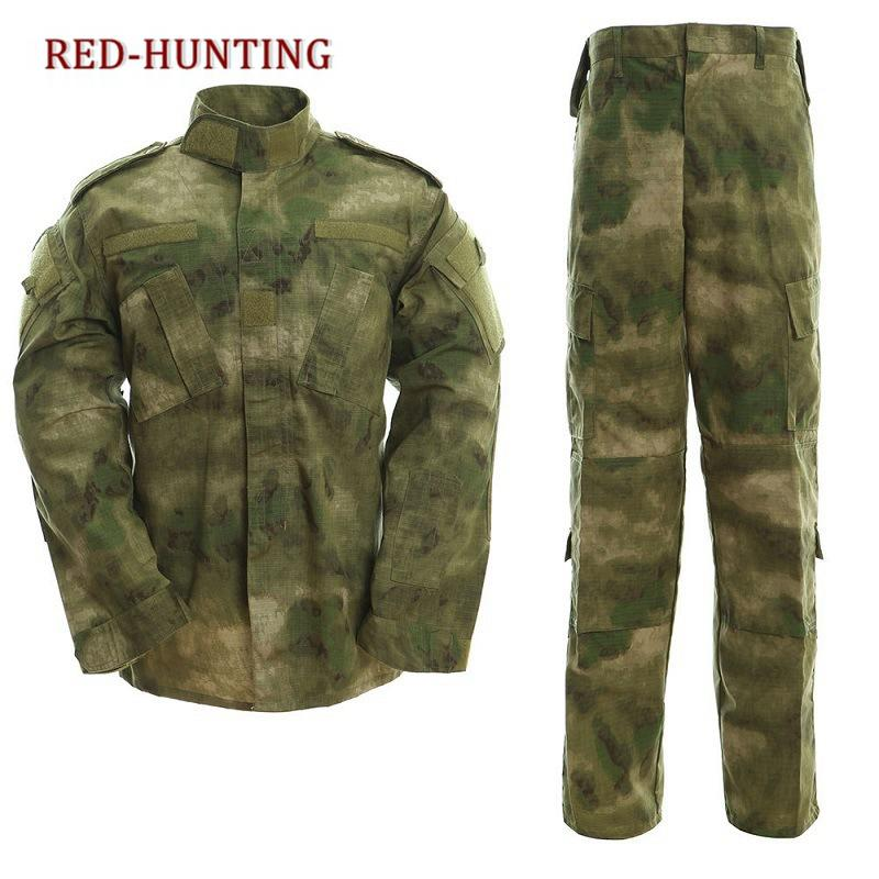 Uniform Tactical Atacs A-tacs FG Camo PC Ripstop Shirt & Pants Army Combat Coat Set