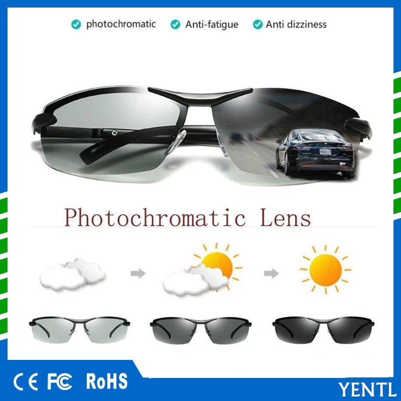 0323b5b787 Mens Outdoor Car Driving Fishing Sunglasses Transition Lens HD Polarized  Photochromic Sunglasses Sports Drive Fishing Run Cheap Car Accessories  Interior ...