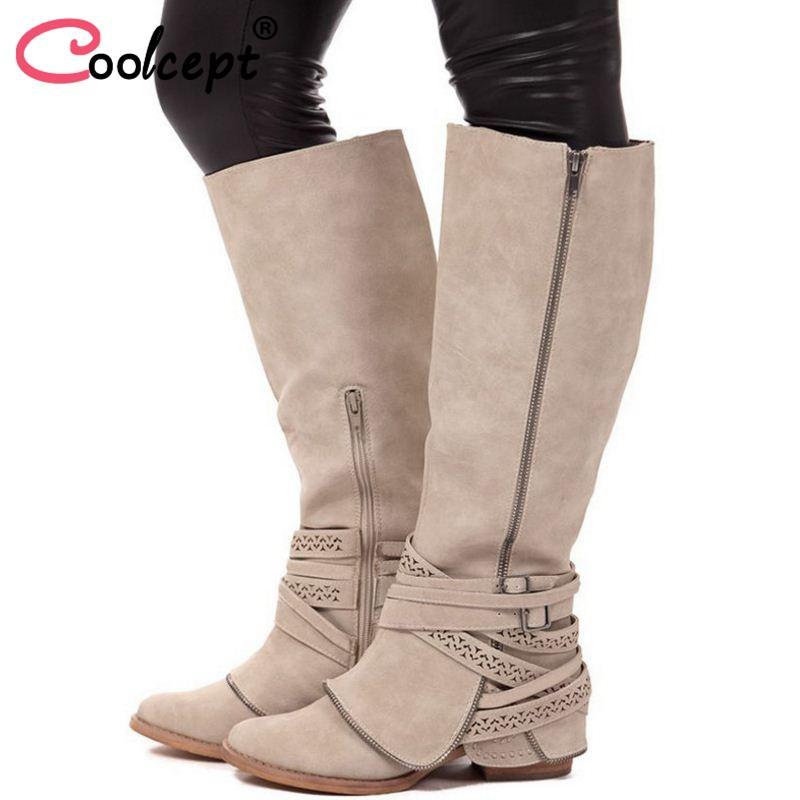 Fermeture 43 Flats Coolcept Éclair Acheter 34 Femme Bottes Taille w0vxpqA