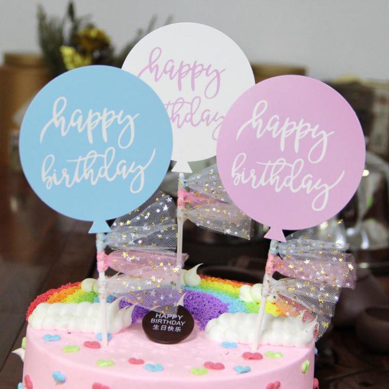 Grosshandel Ballons Form Alles Gute Zum Geburtstag Banner Cupcake