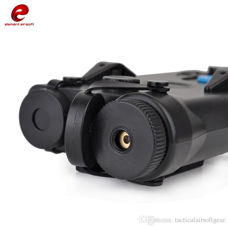 Element Airsoft AN / PEQ-2 Batterie Fall mit Red Laser VersionBattery Box PEQ2 Style Dummy Nicht funktionsfähig Für GBB / AEG Wargame Paintball Softair