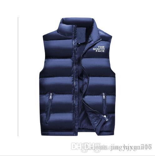 22cffa8dd The South Face Men Vest Autumn Winter Warm Sleeveless Jackets Army ...