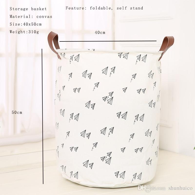 30 styles Toy storage basket children room organizer folding bag with handle self stand clothes storage laundry basket 40x50cm