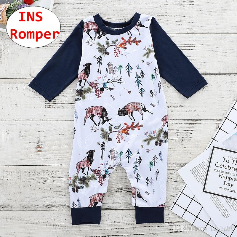 fbe0bfd7a 2019 INS Baby Cartoon Romper Animal Plant Print Toddler Long Sleeve Jumpsuit  Kids Unisex Autumn Winter Cloth For 3 18M From Us_baby, $5.28 | DHgate.Com