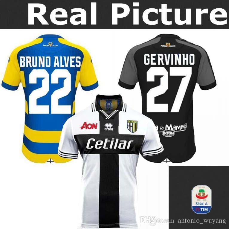 2018 Nuevo Parma Calcio 1913 Casa Camisetas De Fútbol 18 19 De Distancia    27 GERVINHO Parma CICIRETTI CERAVOLO DEZI DI GAUDIO DA CRUZ Por  Antonio wuyang 1a4876f786c1f