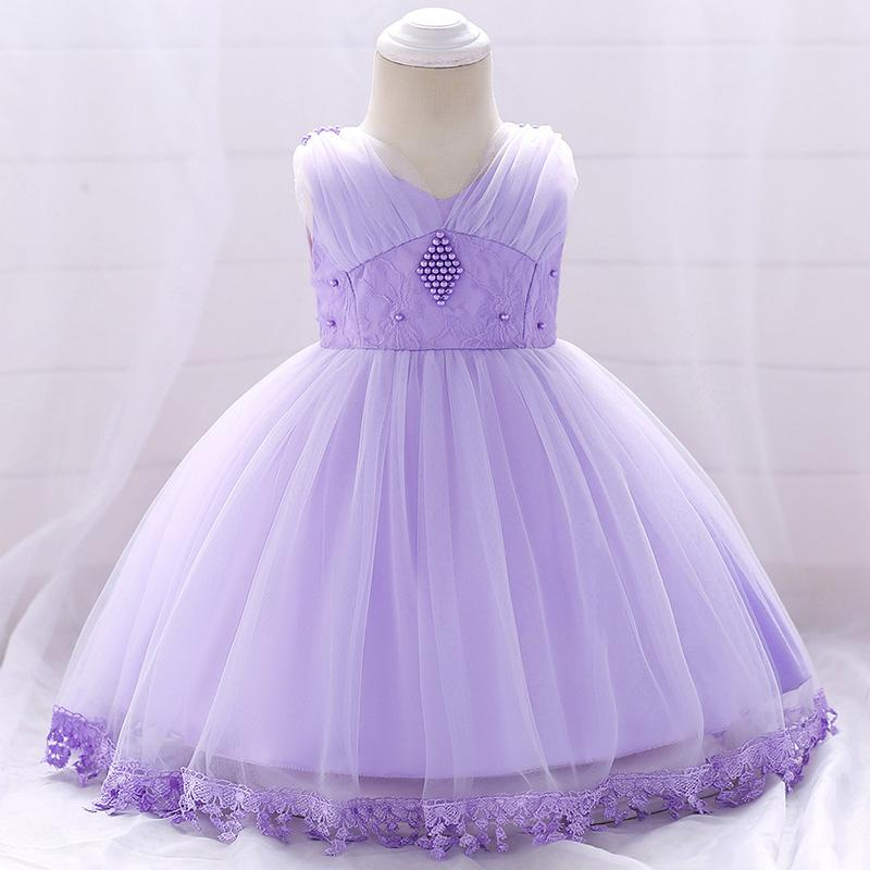 b52c4df37e7 Baby Infant Toddler Pageant Clothes Flower Girl Dress