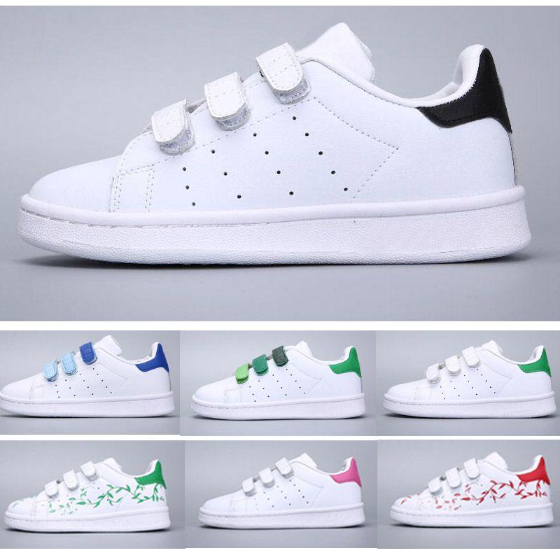 pretty nice b858b 13246 Compre 2018 Adidas Stan Smith Superstar Niños Superstar Zapatos Original  White Gold Bebé Niños Superstars Sneakers Originals Super Star Niñas Niños  Deportes ...