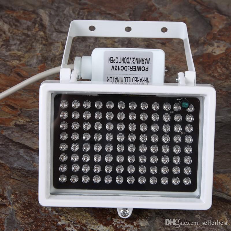 12 V 96 LED Enhanced Night Vision Infravermelho IR Iluminador Fill Light Flash Da Lâmpada para Câmera de CCTV 360 Graus Paranormal Caça Fantasma equipamentos