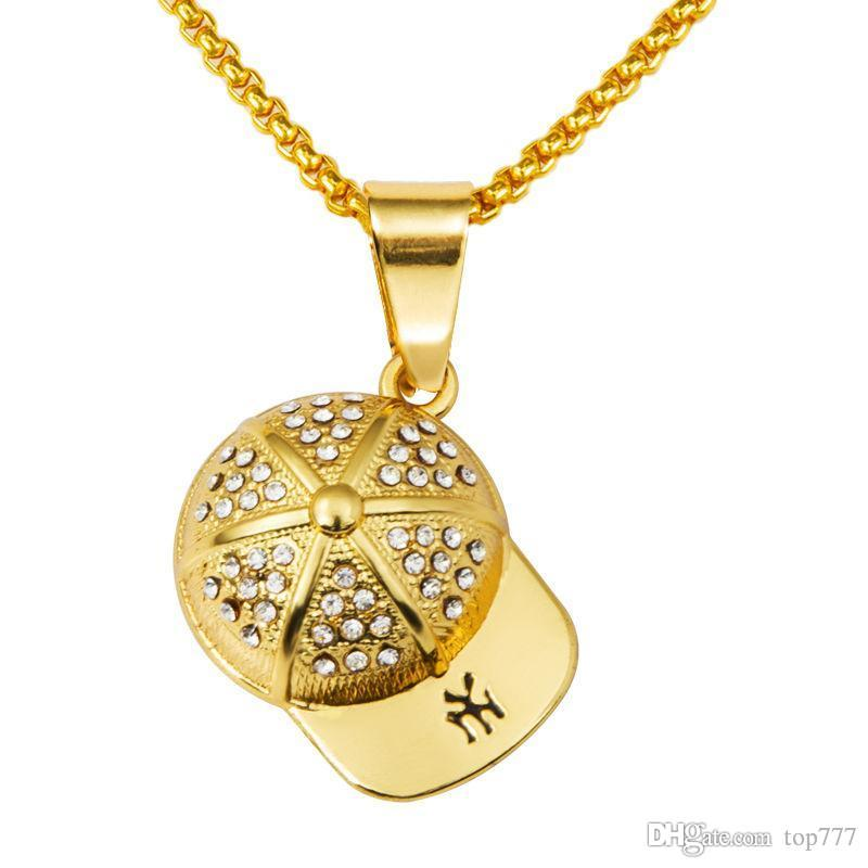 Wholesale 2018 gold plating hip hop pendant necklace fashion jewelry wholesale 2018 gold plating hip hop pendant necklace fashion jewelry cap pendants gold chain for menwomen silver pendant necklaces ruby pendant necklace aloadofball