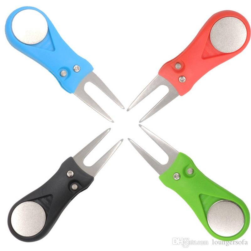 المعادن البلاستيك جولف ديفت أداة البسيطة المحمولة الملحقات الرياضية للتعديل العملي تمتد إصلاح الأخضر شوكة العديد من الألوان